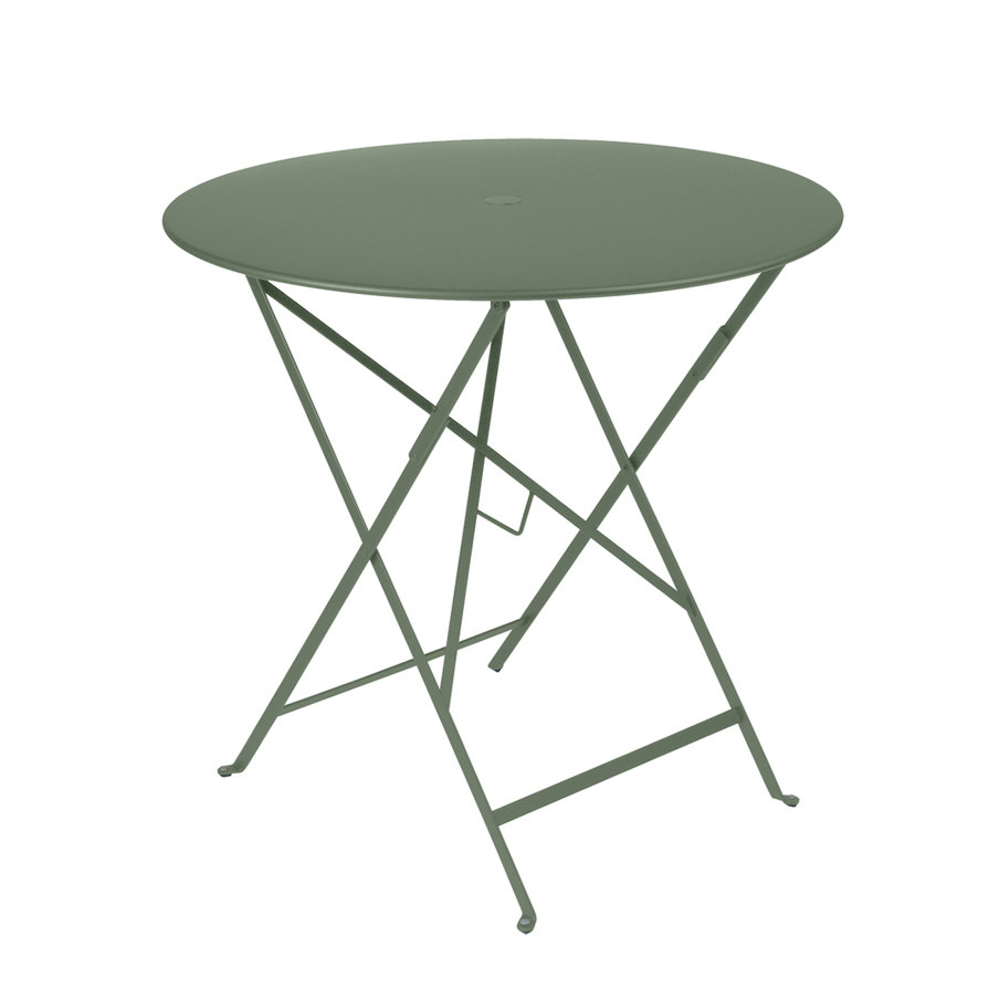Fermob Bistro Folding Table Round Top 77cm Parasol Hole