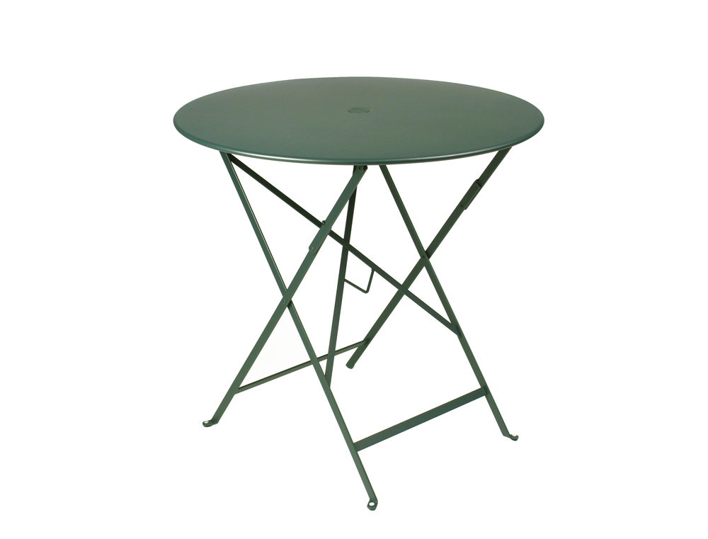 ... Fermob Bistro Folding Table Round Top (77cm)   With Parasol Hole ...