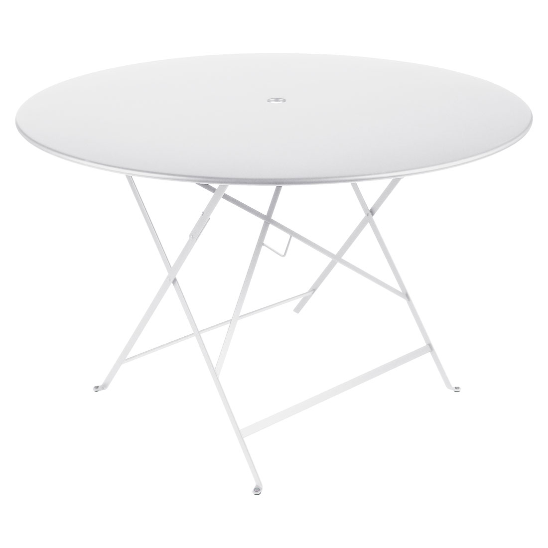 ... Fermob Bistro Folding Table 117cm Dia Top   With Parasol Hole ...