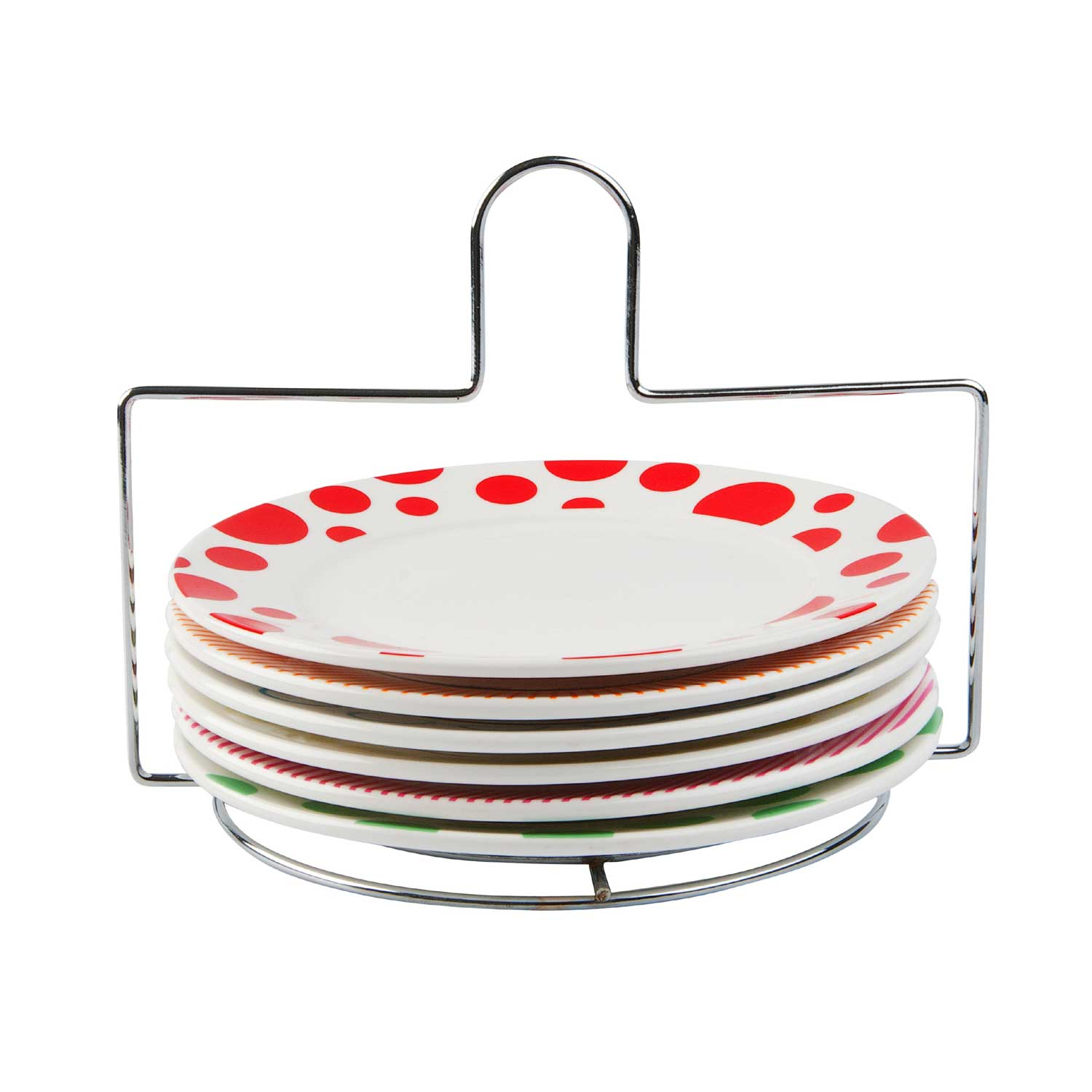 sc 1 st  Connections At Home & Present Time set of 6 Dots \u0026 Stripes breakfast plates on stand