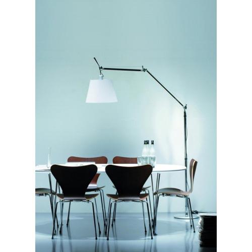 Artemide Tolomeo Mega Terra Polished Aluminium Floor Light