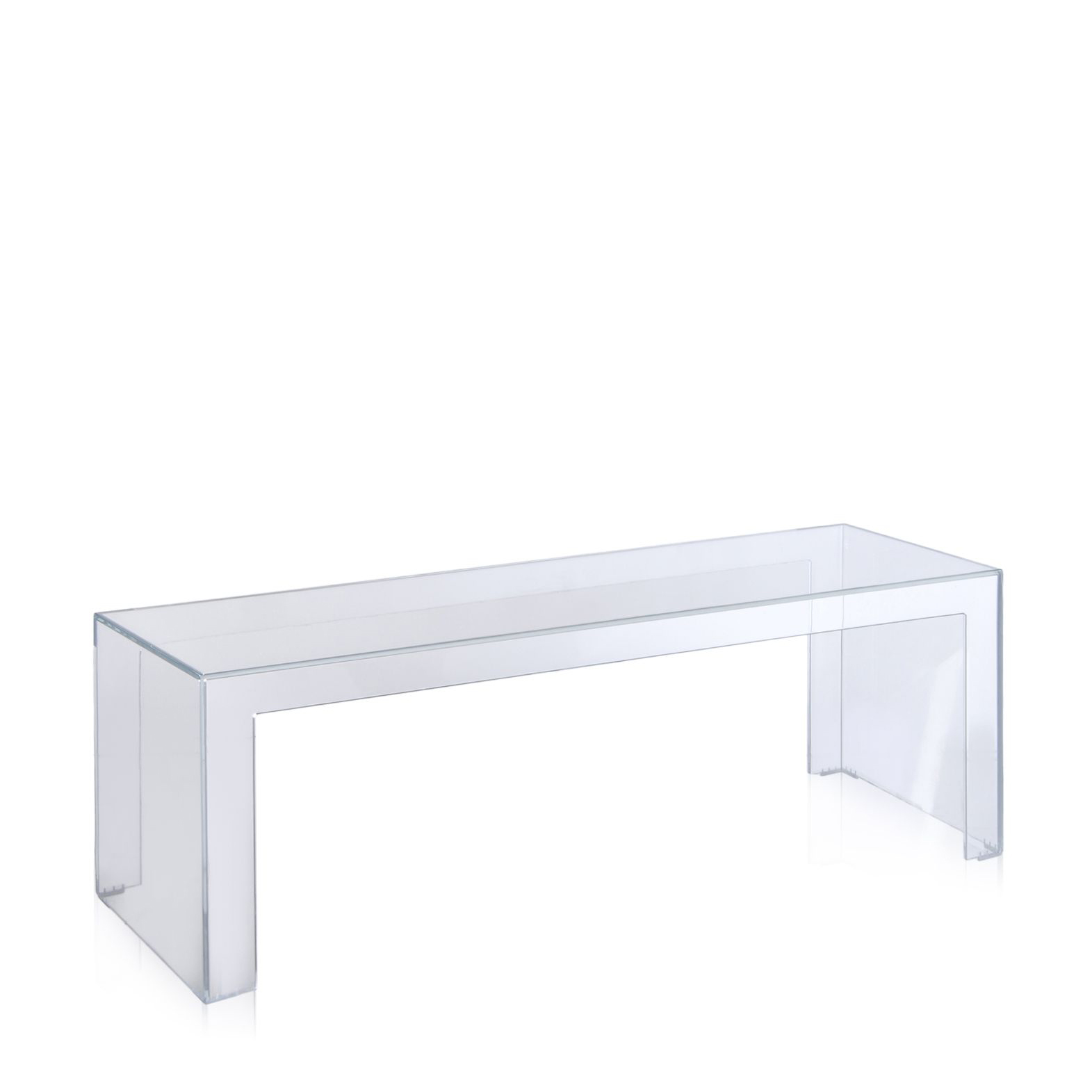 Buy Kartell Invisible Long Low Side Table Online From Connections At - Kartell invisible coffee table