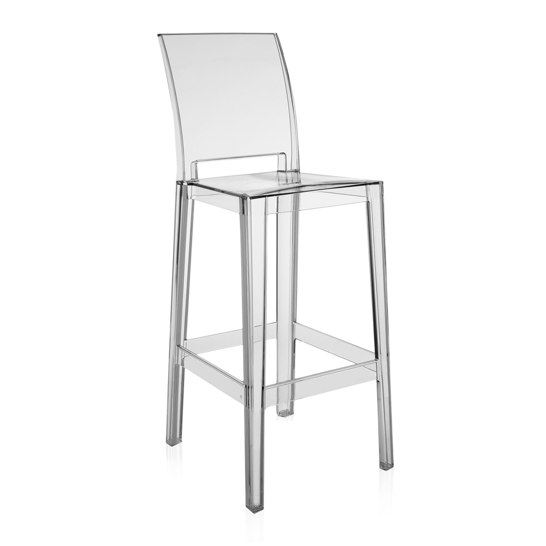 kartell one more bar stool (h with square back) - kartell one more bar stool h square back