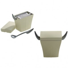 Alessi Mister Meumeu parmesan cheese cellar with grater