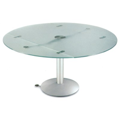 Naos Atlante 140 Cm Extending Circular Glass Table