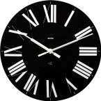 Alessi Firenze wall clock black face white roman numerals