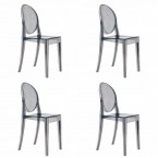 Kartell Victoria Ghost Chairs (Set of 4 )