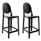 Kartell One More Bar Stools (Oval Backrest) (Set of 2)