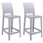 Kartell One More Please Bar Stools (Square Backrest) (Set of 2)