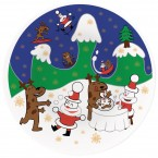A di Alessi Happy Snowtime Christmas Plate