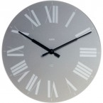 Alessi Firenze wall clock grey face white roman numerals