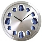 Present Time Big Picture wall clock