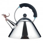 Alessi TEA REX kettle black with copper whistle