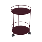Fermob Guinguette Wheeled Side Table (Solid Double Top)