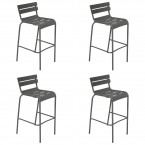 Fermob Luxembourg High Bar Stools (Set of 4)