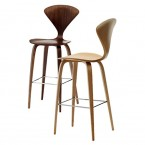Cherner Bar & Counter Stool With Wooden Legs