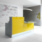 MDD LINEA Panel End Counter & Desk High Reception