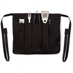 Present Time Brink BBQ tools and apron set