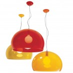 Kartell FL/Y Lamp Medium Transparent (Diameter: 52cm)