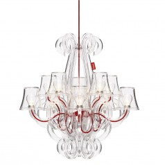 Fatboy RockCoco Chandelier (10 lamps) - Transparent