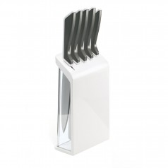 Guzzini My Kitchen set of 5 knives with block