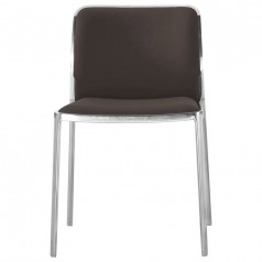 Kartell Audrey Soft Dining Chair - Polished Frame