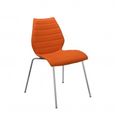 Kartell Maui Soft upholstered stacking dining chair