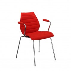Kartell Maui Soft upholstered stacking armchair