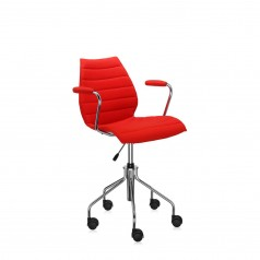 Kartell Maui Soft upholstered mobile armchair