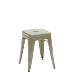 Tolix H 45 Low Stool lacquered steel