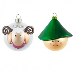 Alessi Pastorello & Pecorello set of 2 christmas baubles