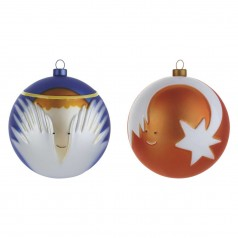 Alessi Angioletto & Stella cometa set of 2 baubles