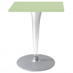 Kartell TopTop square laminated table round base