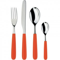 Alessi All-Time red cutlery set