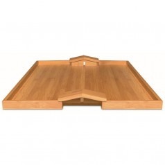 Alessi Quattro Muri E Due Case tray in bamboo wood