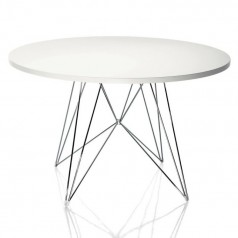 Magis Tavolo XZ3 Round Table - Chrome, White, Black, Copper, Gold bases