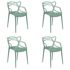 Kartell Masters Chairs (set of 4) - By Philippe Starck & Eugeni Quittlet