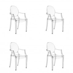 Kartell Lou Lou Ghost Chair Set of 4