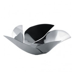 Alessi Twist Again stainless steel fruit bowl