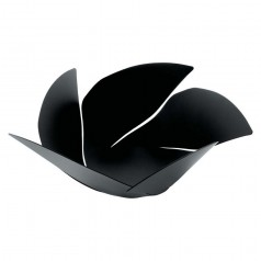 Alessi Twist Again black fruit bowl