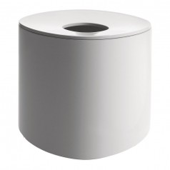 Alessi Birillo Round Tissue Box - White