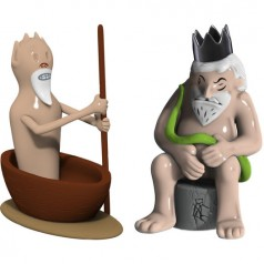 Alessi Caronte e Minosse set of two figurines