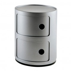 Kartell Componibili 2 Tier Storage Unit (Silver)