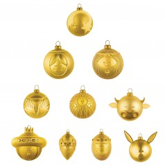 Alessi Set of 10 Gold Baubles