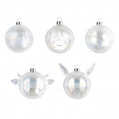 Alessi Nativity clear glazed Baubles