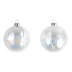 Alessi Set of 2 clear glass Christmas Baubles