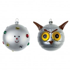 Alessi Fioccodineve & Uffoguffo Christmas baubles