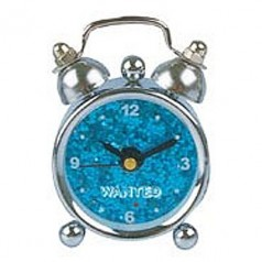 Present Time XS sparkly mini alarm clock