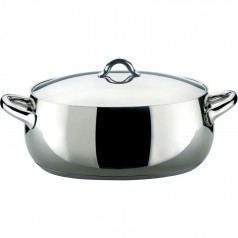 Alessi MAMI oval casserole 30cm - polished steel