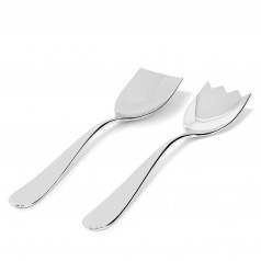 Alessi Nuovo Milano salad server set